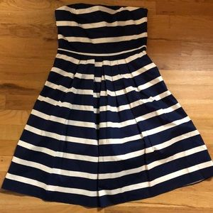 Navy Blue & White Stripe Dress